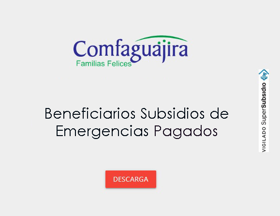 Beneficiarios subsidios de emergencias