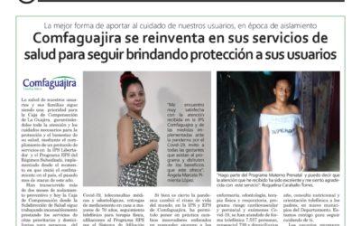 COMFAGUAJIRA SE REINVENTA EN SUS SERVICIOS DE SALUD PARA SEGUIR BRINDANDO PROTECCION A SUS USUARIOS.