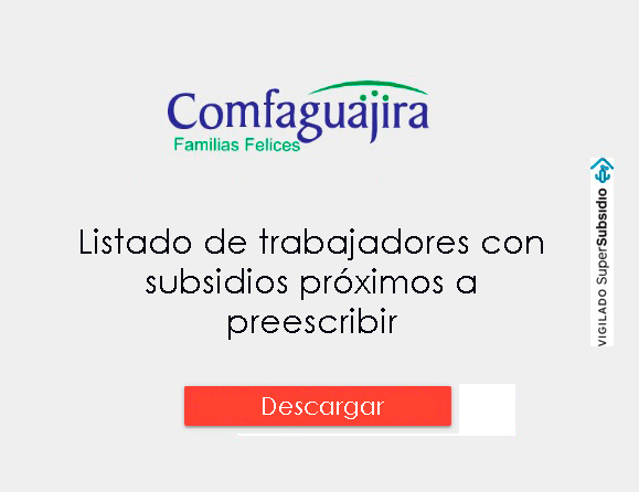 LISTADO DE TRABAJADORES CON CUOTAS Y SUBSIDIOS PRÓXIMAS A PREINSCRIBIR